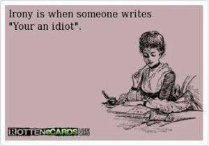 your an idiot