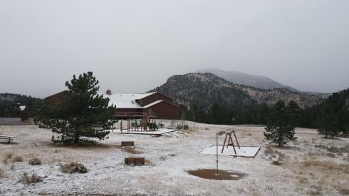 First snow, Estes 2014